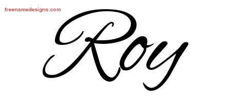 Cursive Name Tattoo Designs Roy Download Free