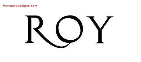 Regal Victorian Name Tattoo Designs Roy Printable