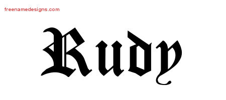 Blackletter Name Tattoo Designs Rudy Graphic Download