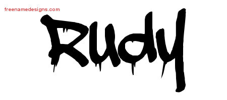 Graffiti Name Tattoo Designs Rudy Free Lettering