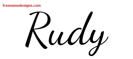 Lively Script Name Tattoo Designs Rudy Free Download