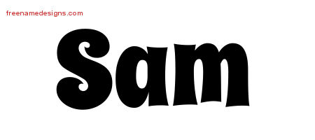 Groovy Name Tattoo Designs Sam Free Lettering