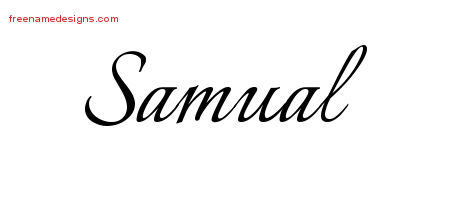Calligraphic Name Tattoo Designs Samual Free Graphic