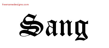 Blackletter Name Tattoo Designs Sang Printable