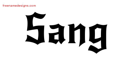 Gothic Name Tattoo Designs Sang Free Graphic