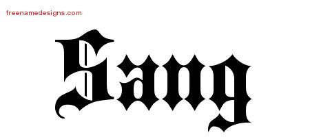 Old English Name Tattoo Designs Sang Free Lettering