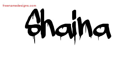 Graffiti Name Tattoo Designs Shaina Free Lettering