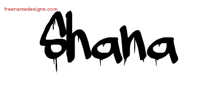 Graffiti Name Tattoo Designs Shana Free Lettering