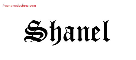 Blackletter Name Tattoo Designs Shanel Graphic Download