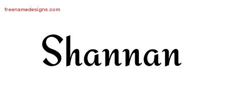 Calligraphic Stylish Name Tattoo Designs Shannan Download Free