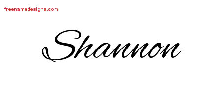 Cursive Name Tattoo Designs Shannon Download Free