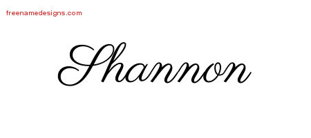 Classic Name Tattoo Designs Shannon Printable