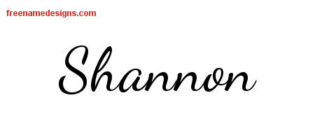 Lively Script Name Tattoo Designs Shannon Free Printout