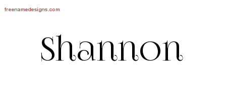 Vintage Name Tattoo Designs Shannon Free Download