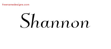 Elegant Name Tattoo Designs Shannon Free Graphic