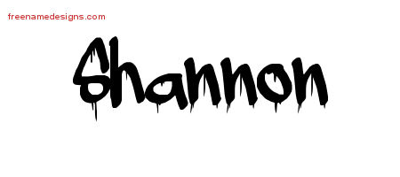 Graffiti Name Tattoo Designs Shannon Free Lettering