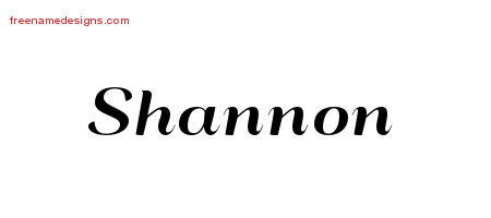 Art Deco Name Tattoo Designs Shannon Graphic Download
