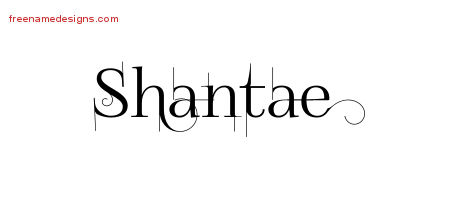 Decorated Name Tattoo Designs Shantae Free