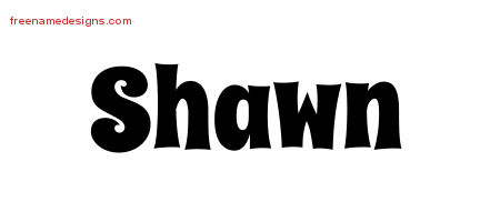 Groovy Name Tattoo Designs Shawn Free
