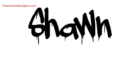 Graffiti Name Tattoo Designs Shawn Free Lettering