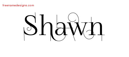 Decorated Name Tattoo Designs Shawn Free Lettering