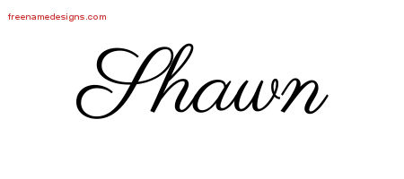 Classic Name Tattoo Designs Shawn Graphic Download