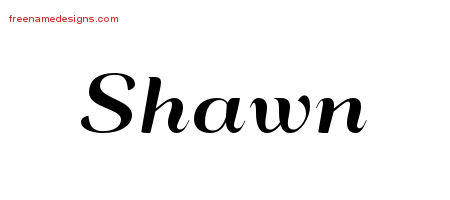 Art Deco Name Tattoo Designs Shawn Graphic Download