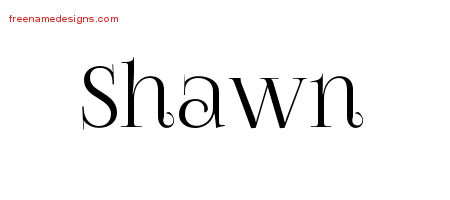 Vintage Name Tattoo Designs Shawn Free Printout