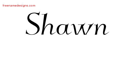 Elegant Name Tattoo Designs Shawn Free Graphic