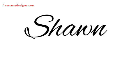 Cursive Name Tattoo Designs Shawn Download Free