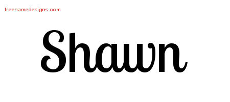 Handwritten Name Tattoo Designs Shawn Free Printout