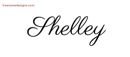 Classic Name Tattoo Designs Shelley Graphic Download