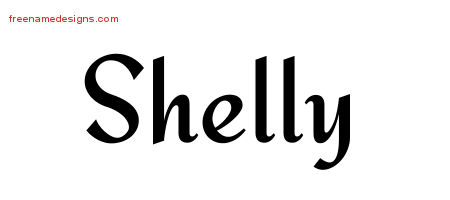 Calligraphic Stylish Name Tattoo Designs Shelly Download Free