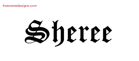 Blackletter Name Tattoo Designs Sheree Graphic Download