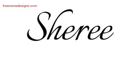 Calligraphic Name Tattoo Designs Sheree Download Free