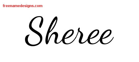 Lively Script Name Tattoo Designs Sheree Free Printout