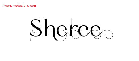 Decorated Name Tattoo Designs Sheree Free