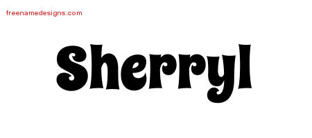 Groovy Name Tattoo Designs Sherryl Free Lettering