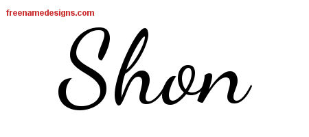 Lively Script Name Tattoo Designs Shon Free Download