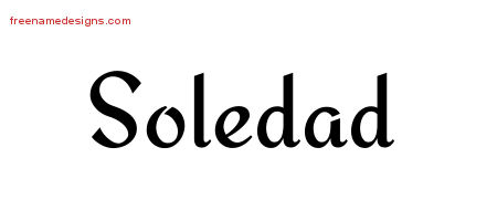 Calligraphic Stylish Name Tattoo Designs Soledad Download Free