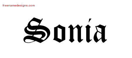 Blackletter Name Tattoo Designs Sonia Graphic Download