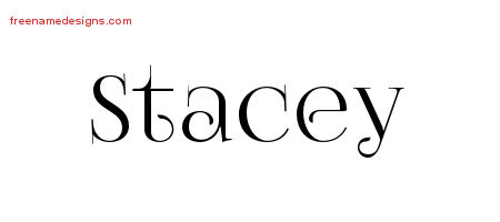 Vintage Name Tattoo Designs Stacey Free Download