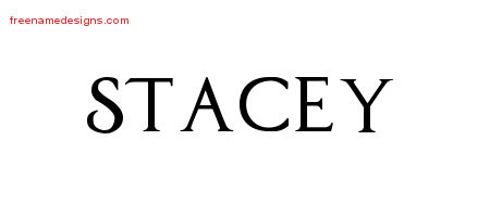Regal Victorian Name Tattoo Designs Stacey Printable