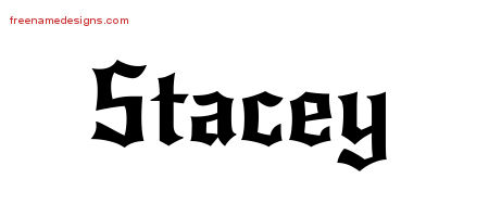 Gothic Name Tattoo Designs Stacey Free Graphic