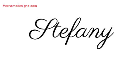 Classic Name Tattoo Designs Stefany Graphic Download
