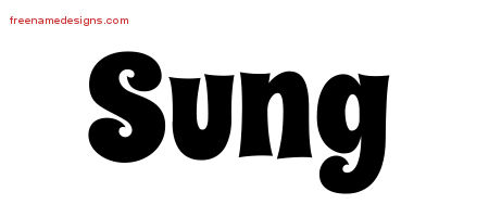 Groovy Name Tattoo Designs Sung Free