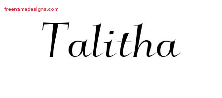 talitha Archives - Free Name Designs