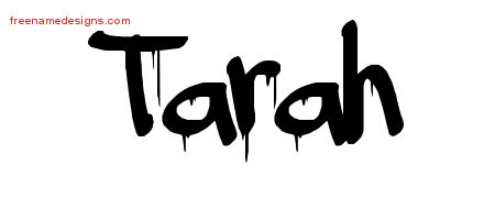 Graffiti Name Tattoo Designs Tarah Free Lettering