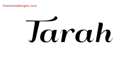 Art Deco Name Tattoo Designs Tarah Printable