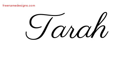 Classic Name Tattoo Designs Tarah Graphic Download
